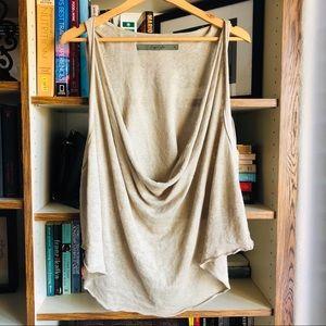 Enza Costa // Cowl Linen Tank Top